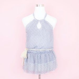Charlotte Russe Belted Nautical Halter Blouse